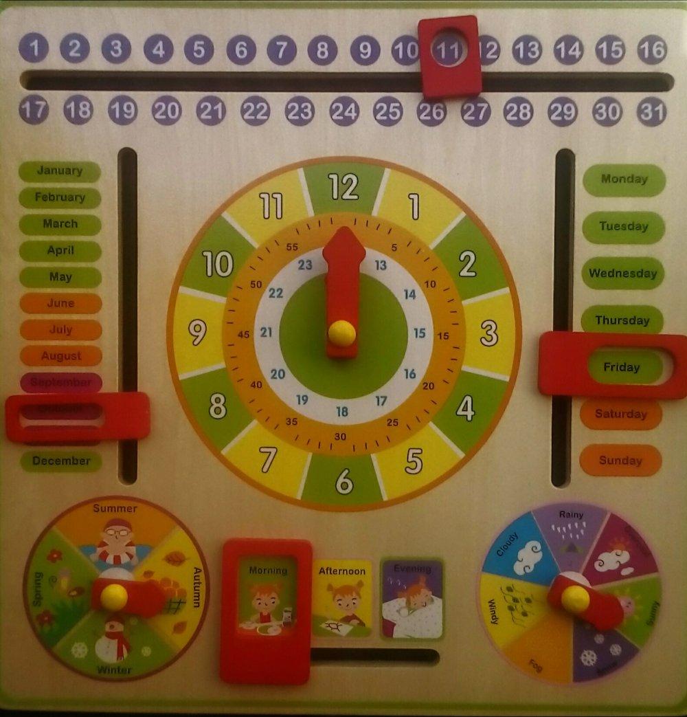 Calendario Legno Bambini.Review Calendario Didattico In Legno Orologio Educativo
